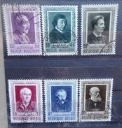 BELGIE   1952    Nr. 892 - 897      Gestempeld     CW  53,00