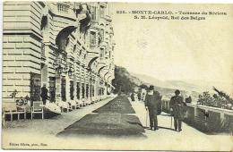 Monte-Carlo. Terrasse Du Riviera. S.M. Léopold, Roi Des Belges. - Familles Royales