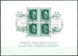 Deutsches Reich Block 9 O Sonderstempel Hamburg