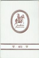 Calendrier Chocolatier Godiva . 1972. - Calendriers