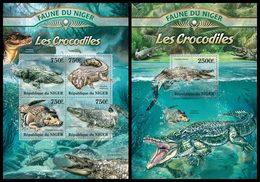 NIGER 2013 - Crocodiles - YT 1716-9 + BF136; CV = 31 €