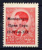 MONTENEGRO OCC. ITAL.- 3(*) - PIERRE II - Montenegro