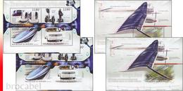 Burundi BL 0442/43** Transports électriques - MNH - 4 Blocs: Full Set  !