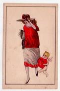Cartolina Illustrata SAN VALENTINO (moda - Cupido) Anni'20 - San Valentino