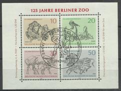 """Berlin Bl. 2 """"125 Jahre Berliner Zoo """" Ersttagssonderstempel  Mi.: 2,50 €"""