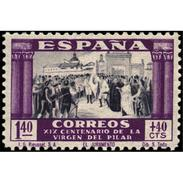 ES898STV-LTV***898STAN.Spain.Esgane .RELIGION.VENIDA DE LA VIRGEN DE EL PILAR De ZARAGOZA.1940.(Ed 898**) - 1931-50 Nuevos & Fijasellos