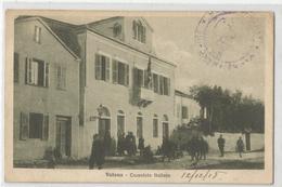 Albanie - Valona - Consolato Italiano Consulat Italien D'italia Cachet Leger Marine Française Postes Navale Fm 1918 - Albanie