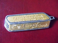 Ancienne Médaille Publicitaire Boite De Conserve Capitaine Cook - Autres