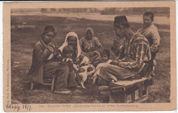 Balkans, Shoeshiner Family On Sunday (Photo O. Miehlmann, Hamburg) Old Postcard Travelled 1920 From Skopje B170210 - Europe