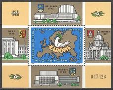 Hungary 1980 Block 147A MNH EUROPA