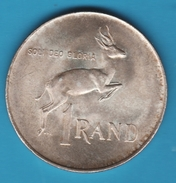 South Africa - SUID AFRIKA 1 RAND 1966 ANIMAL ARGENT SILVER - South Africa