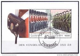 DENEMARKEN 2008 Blok 350 Jaar Koninklijke Garde GB-USED.