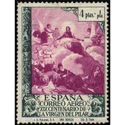 ES921STV-LTV***912STAN.Spain.Esgane .RELIGION.VENIDA DE LA VIRGEN DE EL PILAR De ZARAGOZA.AEREO.1940.(Ed 912**) - 1931-Hoy: 2ª República - ... Juan Carlos I