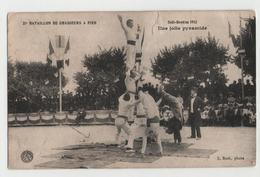 CPA SIDI BRAHIM  21° Bataillon De Chasseurs à Pied  - Une Jolie Pyramide- Guerre 1914-18 - 1914-18