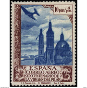 ES913STV-LTV***913STEAE.Spain.Esgane .RELIGION.VENIDA DE LA VIRGEN DE EL PILAR De ZARAGOZA.AEREO.1940.(Ed 913**) - Nuevos & Fijasellos
