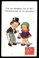 CPA ANCIENNE- GRANDE BRETAGNE- HUMOUR ANGLAIS-  LES ENFANTS-  UN GENTLEMAN FAIT LA COUR... - Cartes Humoristiques