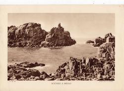 CÔTE D'ARMOR, ROCHERS A BREHAT  (granite Rose), Planche Densité = 200g, Format 20 X 29 Cm, (L. L.) - Géographie