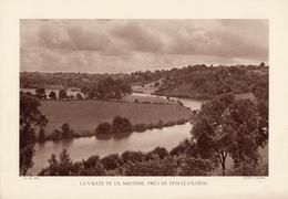 INDRE, LA VALLEE DE LA MAYENNE, PRES DE DUN-LE-CHATEAU,  Planche Densité = 200g, Format 20 X 29 Cm, (George) - Géographie