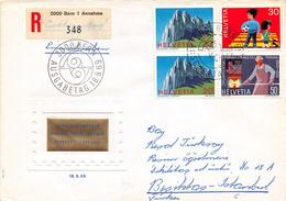 SUISSE - Timbres Sur Lettre Recommandée - Premier Jour - BERN - 18 Septembre 1969 - Switzerland
