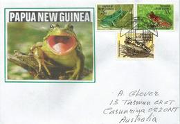 Grenouilles De Papouasie, Belle Lettre De Port Moresby, Adressée En Australie