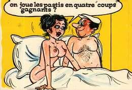 Humour - Illustration Alexandre - Lyna Série Boulistes 914/3 -  On Joue Les Pastis En Quatre Coups Gagnants ? - Humour