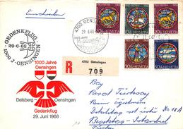 SUISSE - Timbres Sur Lettre Recommandée - Premier Jour - 1000 JAHRE - OENSINGEN - 29 Juin 1968 - Switzerland