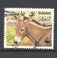 SUDAN     1994 Worldwide Nature Protection - African Wild Ass USED WWF - Sudan (1954-...)