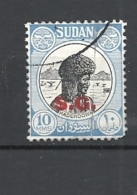 SUDAN    1951 ON SERVICE TAXE S.G. RED HADENDOWA   USED - Sudan (1954-...)