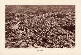 SARTHE, LE MANS, Planche Densité = 200g, Format 20 X 29 Cm, (Moreau) - Géographie