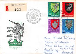 SUISSE - Timbres Sur Lettre Recommandée - Premier Jour - FDC PRO JUVENTUTE 1979 - BERN 28 Novembre 1979 - Switzerland