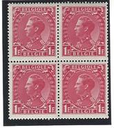 Koning Leopold III Nr. 403 In Blok Van 4 - Belgique