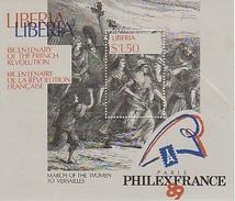 Révolution Française (marche Des Femmes Et Révolte Des Troupes) - Philexfrance 89 - 2 Blocs Libéria Et Vanuatu