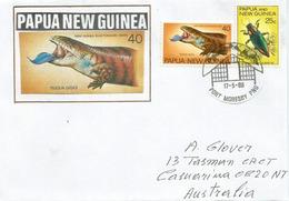 Saurien De Papouasie Nouvelle-Guinée,  Belle Lettre De Port Moresby, Adressée En Australie