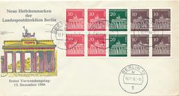 BERLIN - 13.12.1966 , Brandenburger Tor  , Zusammendrucke Aus Markenheftchen - FDC: Briefe