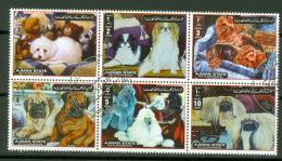 Ajman 6 Werte Hunde 1972 O