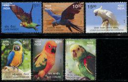 India 2016 Exotic Birds 6v, (Mint NH), Birds - Parrots - Nature