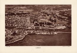 MORBIHAN, LORIENT, Le Port, Planche Densité = 200g, Format 20 X 29 Cm, (Moreau) - Géographie