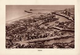 SEINE MARITIME, DIEPPE, Le Port, Planche Densité = 200g, Format 20 X 29 Cm, (Cie Aérienne Française) - Géographie