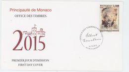 Monaco 2015 Nobel Albert EINSTEIN FDC