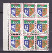 N° 1354A Armoiries De Villes: Saint-Denis De La Réunion :1 Bloc De 9 Timbres Neuf Impecable - France