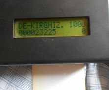 Kyrgyzstan - Test Card Schlumberger SC7 Plain White 100Units, Used
