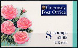 GUERNSEY 1993 - Fleurs Roses 611a Carnet