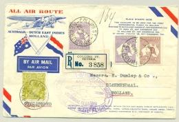 Australia - Nederlands Indië - 1931 - R-returncover Abel Tasman-flight To Nederland - Very Peculiar Contents - Read! - Nederlands-Indië
