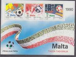Malta 1990 World Cup Football Italia M/s ** Mnh  (34830) - Malta