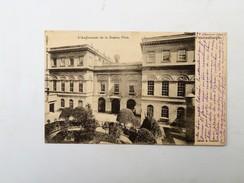 C.P.A. TURQUIE L' Ambassade De La Russie, PERA, Russia Embassy, Timbres 1904 - Turquie
