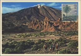 2002 La Laguna, Tenerife. Tarjeta Maxima. Volcan El Teide. Volcano