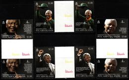Pitcairn  2014   2 X Complete Set With Vignette, History - Politicians - Nobel Prize Winners - Nelson Mandela