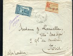 18511 Morocco, Circuled Cover 1930 Registered From Casablanca To France - Briefe U. Dokumente