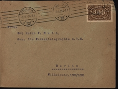 Inflation 1923 400 Marks Berlin Pour Berlin Port Local YT 158