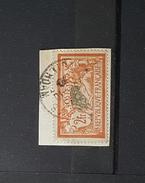 2 Fr Type Merson - Orange Et Vert Bleu - Oblitéré